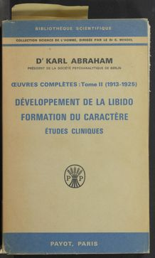 Thumbnail view of Oeuvres complètes de Karl Abraham