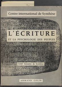 View bibliographic details for L'Ecriture et la psychologie des peuples: actes de colloque