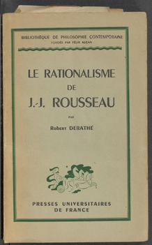 View bibliographic details for Le Rationalisme de J.-J. Rousseau