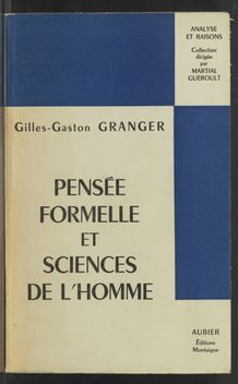 Thumbnail view of Pensée formelle et sciences de l'homme