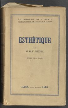 View bibliographic details for Esthétique, III, I.