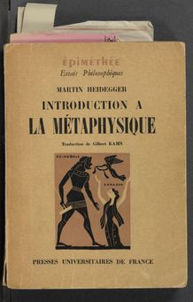 Thumbnail view of Introduction à la métaphysique