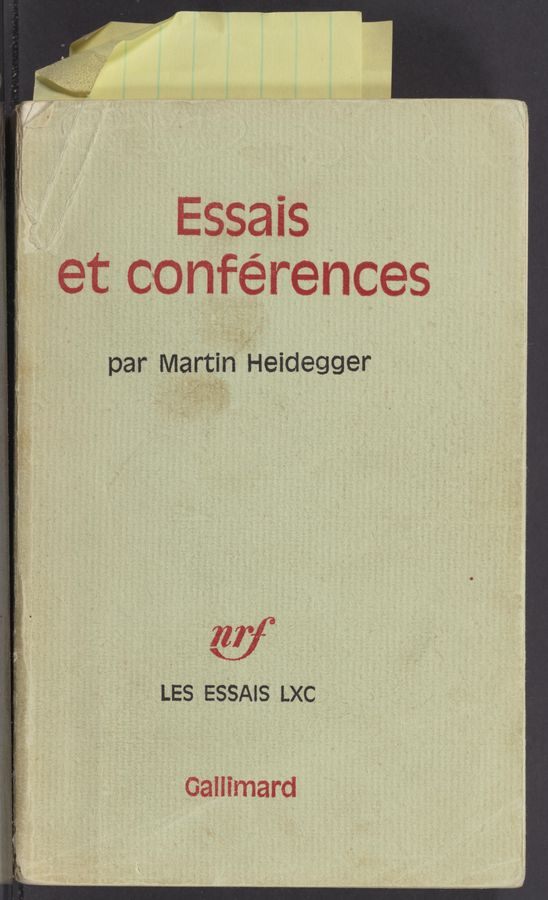 Page text (OCR generated): Essais / 6t conferences LES ESSAIS LXC Gallimard