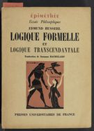 Detailed view of page from Logique formelle et logique transcendantale