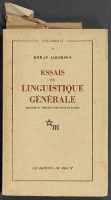 Cover of Essais de linguistique générale