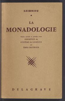 View bibliographic details for La Monadologie