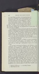 Detailed view of page from Essais