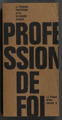 Thumbnail view of Profession de foi du vicaire Savoyard