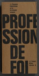 View bibliographic details for Profession de foi du vicaire Savoyard