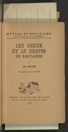 View bibliographic details for Les dieux et le destin en Babylonie (detail of this page not available)